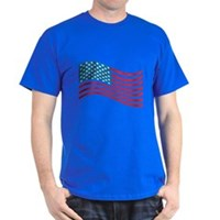 American Flag Wave Dark T-Shirt