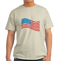 American Flag Wave Light T-Shirt