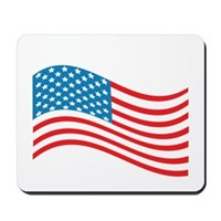 American Flag Wave Mousepad