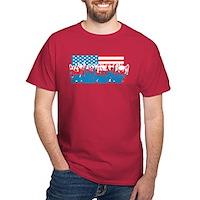4th July Flag Celebrations Dark T-Shirt