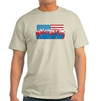 4th July Flag Celebrations Light T-Shirt