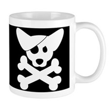 Pirate Corgi Skull Small Mug