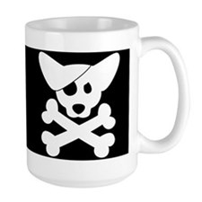 Pirate Corgi Skull Mug
