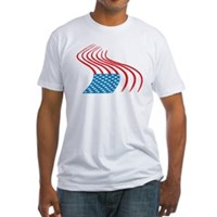 Flag Paint Graffiti Fitted T-Shirt