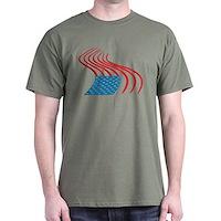 Flag Paint Graffiti Dark T-Shirt