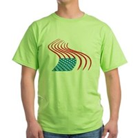 Flag Paint Graffiti Green T-Shirt