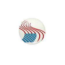 Flag Paint Graffiti Mini Button