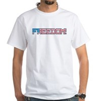 Freedom Flag White T-Shirt
