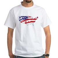 Graffiti America White T-Shirt