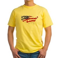 Graffiti America Yellow T-Shirt