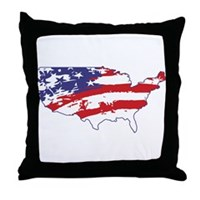 Graffiti America Throw Pillow
