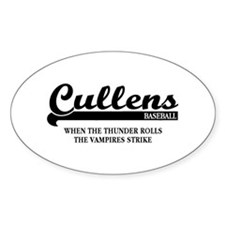 Twilight Cullens Baseball Oval Decal