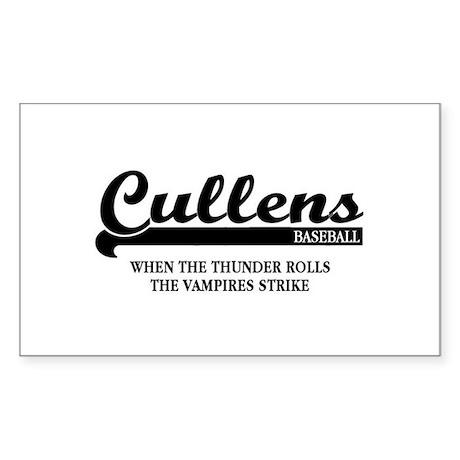 Twilight Cullens Baseball Rectangle Sticker