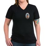 Muhu Garb Women's V-Neck Dark T-Shirt