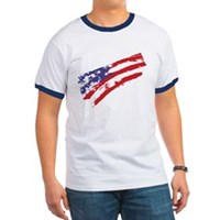 Graffiti USA Flag Ringer T