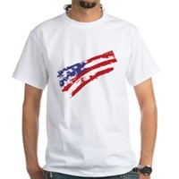 Graffiti USA Flag White T-Shirt