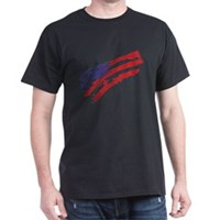 Graffiti USA Flag Dark T-Shirt