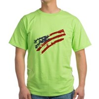Graffiti USA Flag Green T-Shirt
