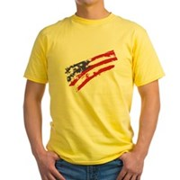 Graffiti USA Flag Yellow T-Shirt