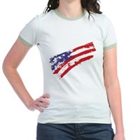 Graffiti USA Flag Jr. Ringer T-Shirt