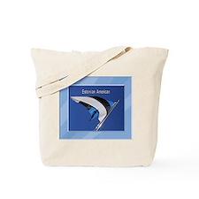 Estonian Amerian & Flag Tote Bag