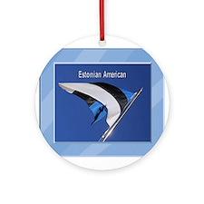 Estonian Amerian & Flag Ornament (Round)