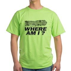 Where Am I Map T-Shirt