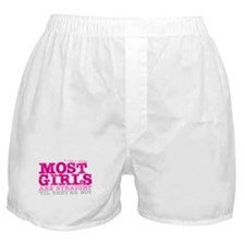 Pink L-Word Quote Boxer Shorts