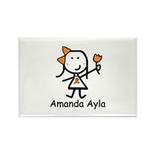 Orange Ribbon - Amanda Ayla Rectangle Magnet