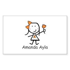 Orange Ribbon - Amanda Ayla Rectangle Decal