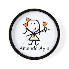 Orange Ribbon - Amanda Ayla Wall Clock