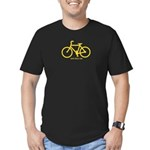 One less Car. Men's Fitted T-Shirt (dark)