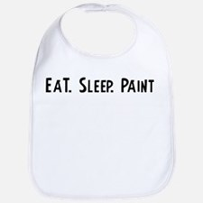 Eat, Sleep, Paint Bib