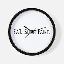 Eat, Sleep, Paint Wall Clock