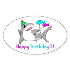 Happy Birthday Oval Decal