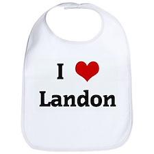 I Love Landon Bib