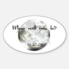 New Moon Premiere Oval Decal