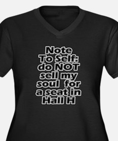 Hall H Note To Self Women's Plus Size V-Neck Dark