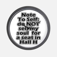 Hall H Note To Self Wall Clock