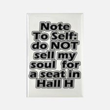 Hall H Note To Self Rectangle Magnet