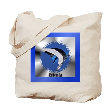 Estonian Flag Tote Bag