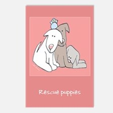 Love Rescue Puppies Postcards (Package of 8)