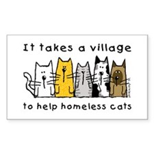 Feral Cats Rectangle Decal