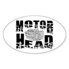Motor Head Oval Decal