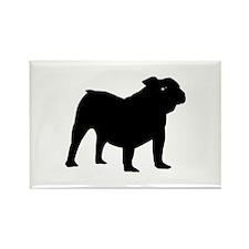 Old English Bulldog Rectangle Magnet