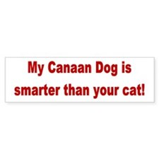 Canaan Dog is Smarter Bumper Bumper Sticker