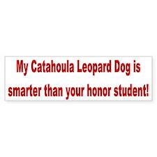Catahoula Leopard Dog Smarter Bumper Bumper Sticker