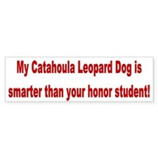 Catahoula Leopard Dog Smarter Bumper Car Sticker