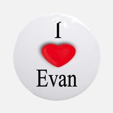 Evan Ornament (Round)