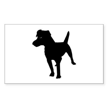 Patterdale Terrier Rectangle Sticker